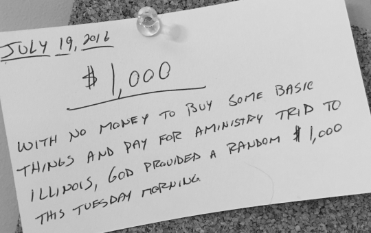 $1,000 Check on a Tuesday